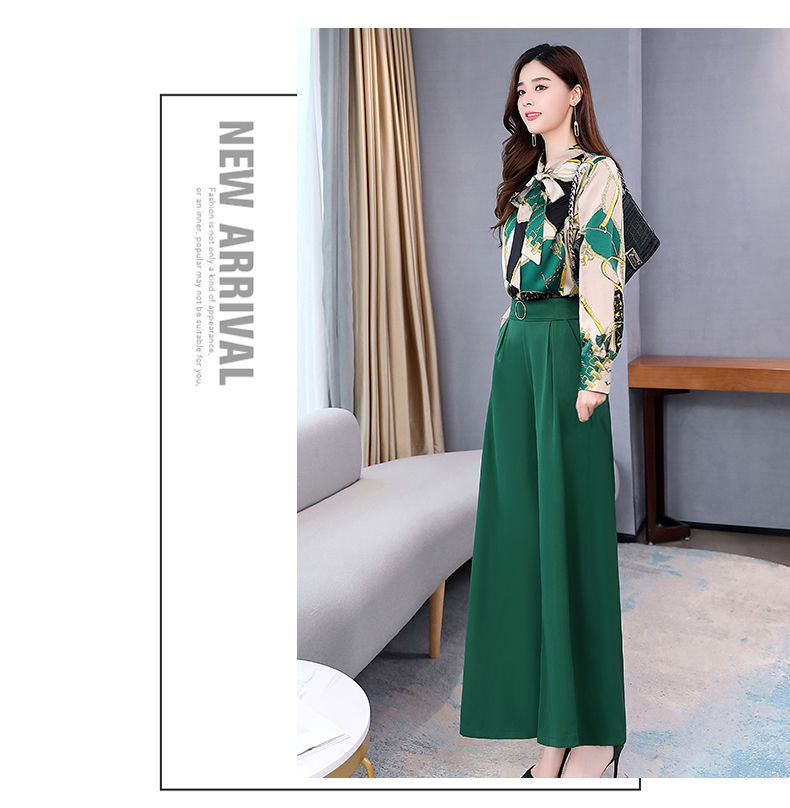 H78dd0cab1a9d41abbfb5134ba185ea883 - Summer Two Piece Set OL Women Sets Plus Size Two Piece Set Top And Pants Wide Leg Pants Woman Tracksuit /outfit/suit/Set 2 Piece