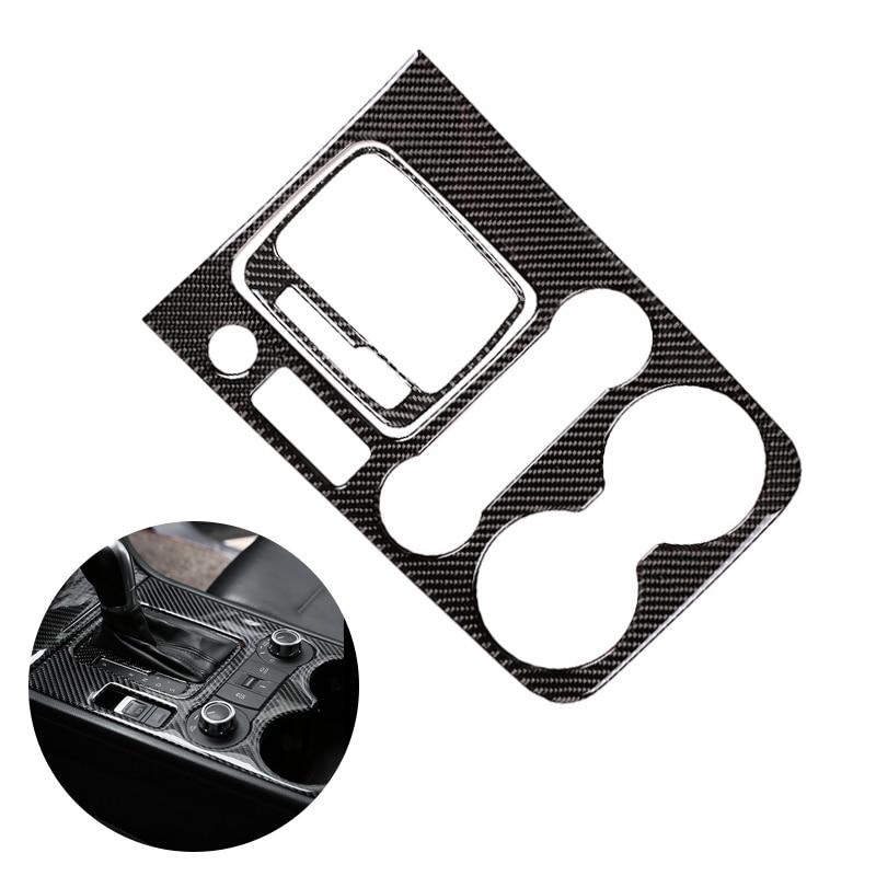 For VW Touareg 2011 - 2015 2016 2017 2018 Car Interior Center Control Gear Shift Panel Water Cup Holder Carbon Fiber Cover Decor