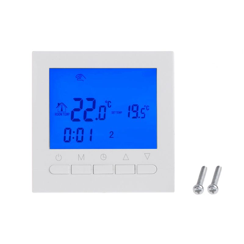 220V Gas Boiler Heating Thermostat Room Temperature Controller Regulator Weekly in Smart Temperature Control System from Home Improvement