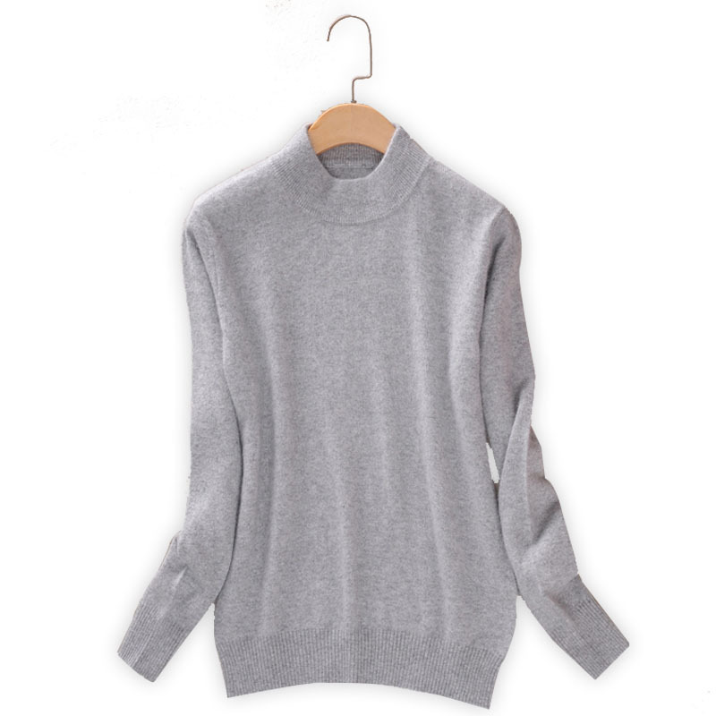 Qualtiy Cashmere Sweater Women Turtleneck Women's Plus Size Knitted Pullovers Winter Warm Sweaters Female D498