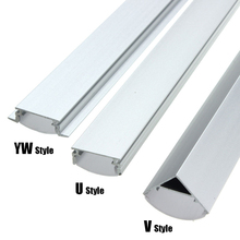 30/45/50cm U/V/YW Style Shaped LED Bar Lights Aluminum Channel Holder Milk Cover End Up for LED Strip Light Accessories