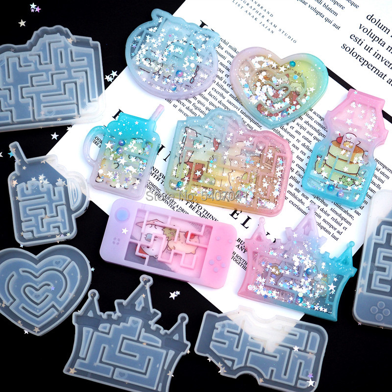 New 1PC Maze Molds Shaker Molds UV Resin Epoxy Mold  Magic Wand Oil Syringe Craft Tools
