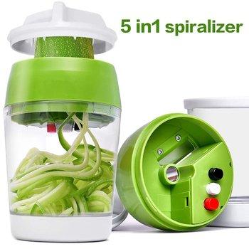 5-In-1 Handheld Spiralizer Vegetable Slicer 2