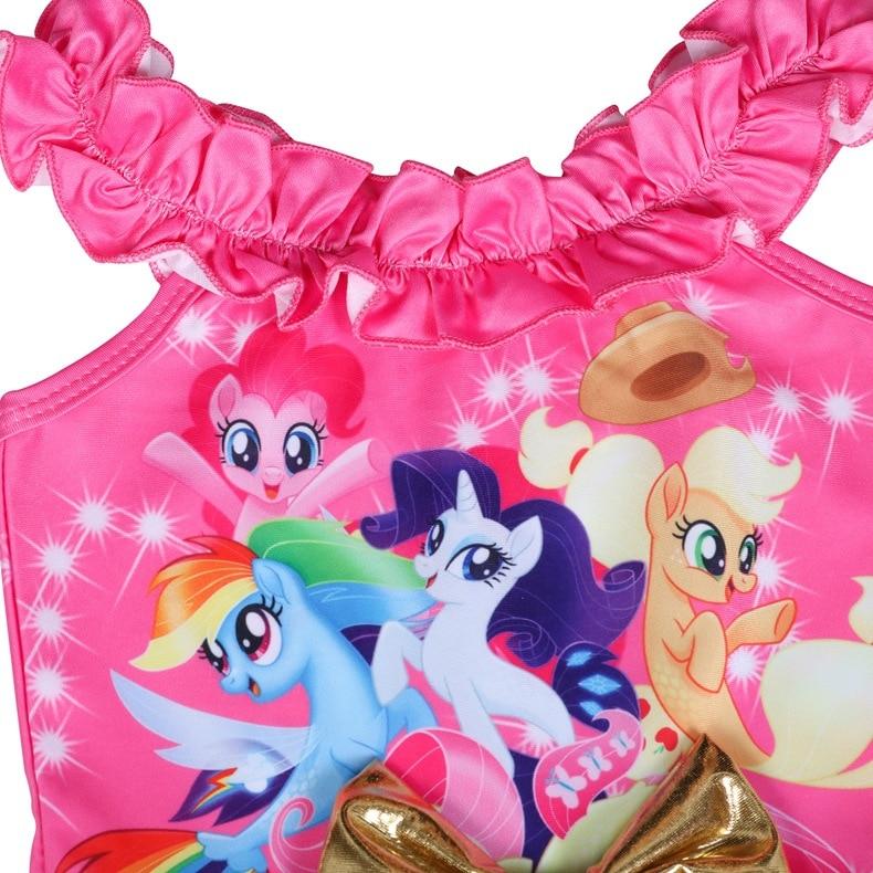 2019 New Style KID'S Swimwear Christmas My Little Pony Cartoon One-piece Baby Big Boy GIRL'S Swimwear 0502