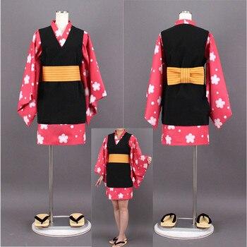 Cazadora de demonio Kimetsu No Yaiba Makomo Kimono uniformes Cosplay disfraz Halloween disfraz vestido