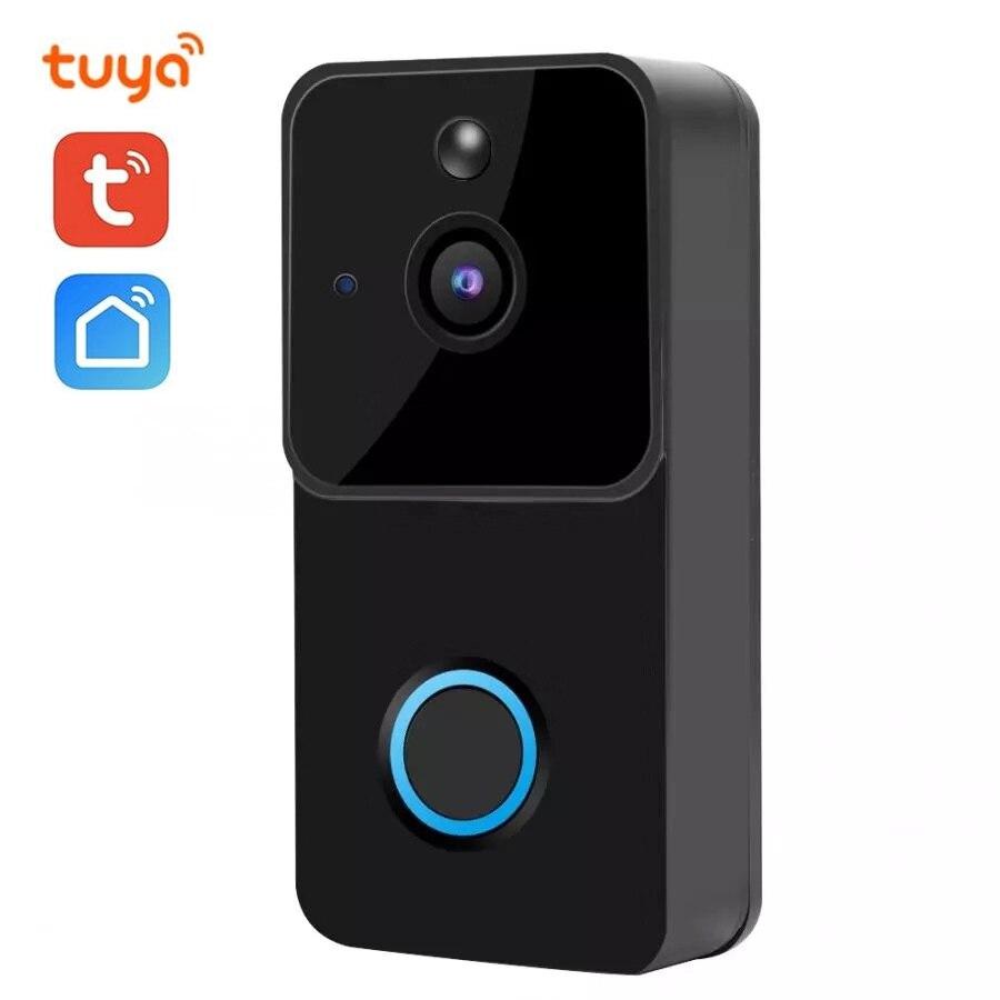 1080P FHD sonnette intelligente IP WIFI interphone vidéo Tuya APP WI-FI porte téléphone cloche caméra IR alarme sans fil caméra de sécurité Alexa