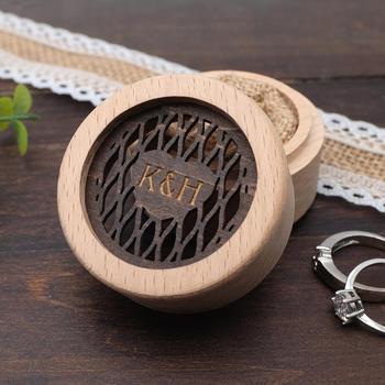 Personalized Wedding Ring Box,Custom Ring Bearer Box, Engraved Wood Box,Ring Box Proposal,Circle Ring Box 6 road 10a diameter 22mm collector ring slide ring lighting brush box