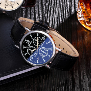 Reloj inteligente mujer Masculino часы Blu Ray женские мужские стеклянные часы повседневные нейтральные кварцевые Имитационные кожаные спортивные наручные часы