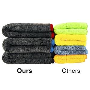 Image 2 - 1200gsm microfibra toalha de carro detalhando toalha casa pano de limpeza carro ferramenta de polimento de secagem toalhas de lavagem para cozinha 40*40/60cm