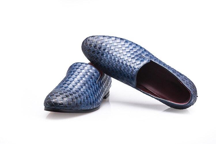 Designer britânico masculino preto sapatos casuais deslizamento