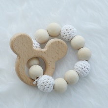 Cute Nordic Style Ornaments Knit Wooden Bead Animals Hanging Gifts Accessories Room Decoration Children Wall