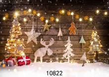 SHENGYONGBAO Vinyl Custom Photography Backdrops Prop Christmas day Christmas Tree Theme Photo Studio Background ST-11 цена