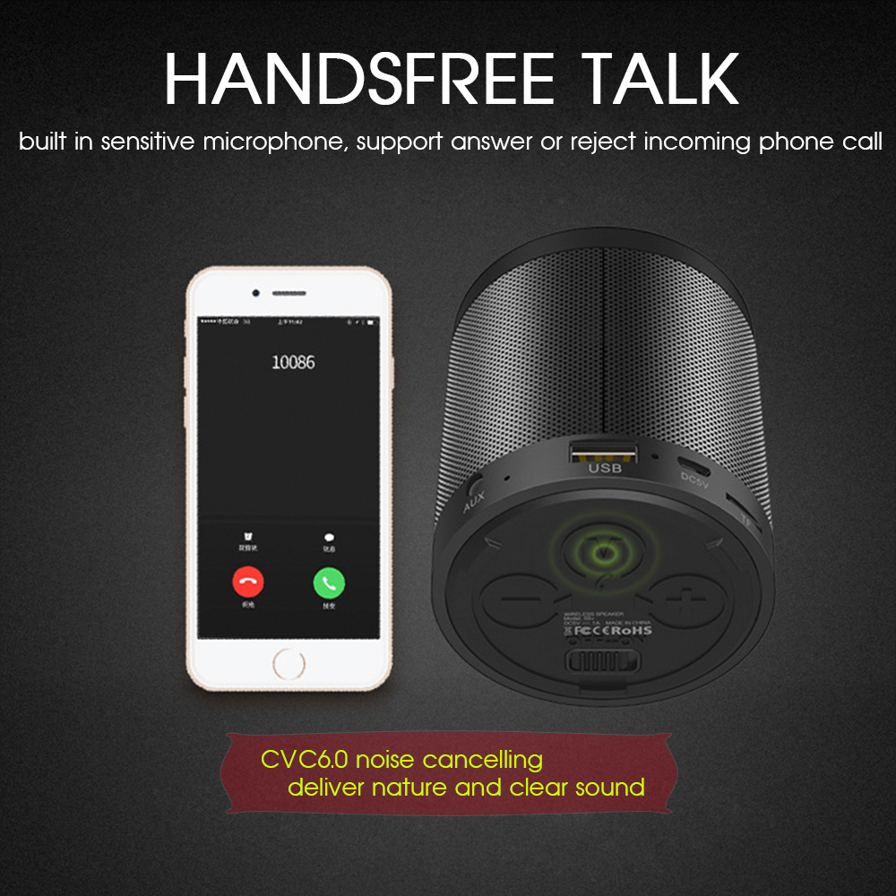 TWS Portable Subwoofer Life Waterproof Wireless Bluetooth Speaker Car Handsfree Receive Call Music Suction Phone Mic For iPhone