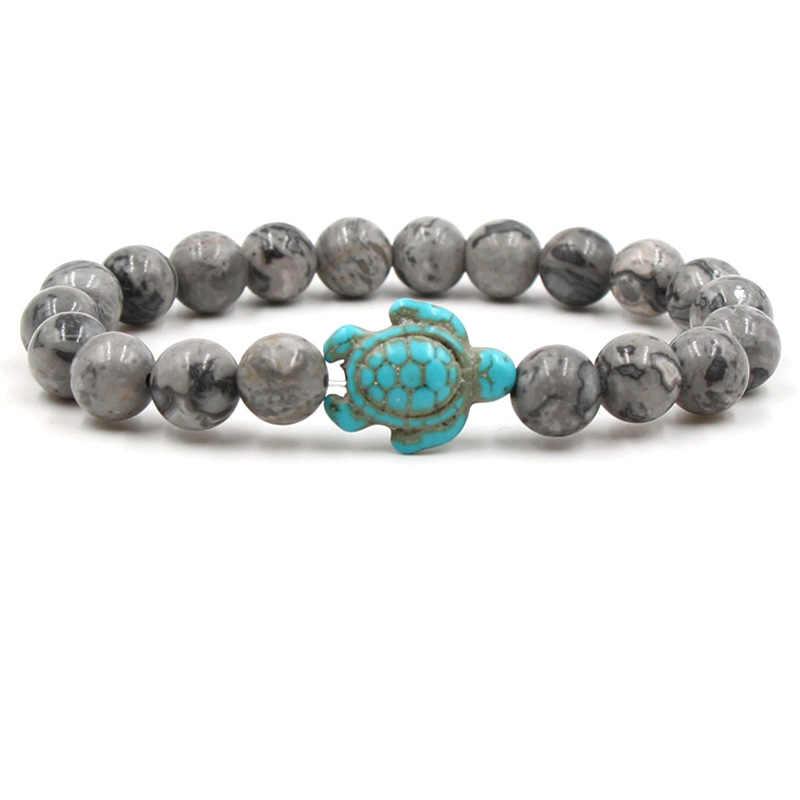 Bead Bracelets&bangle Natural Turquoises Stone personality Animal Buddha Bracelet Energy Men Volcanic stone Bracelets  Jewelry