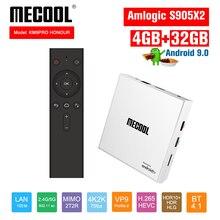 Mecool KM9 פרו טלוויזיה תיבת 4G 32G קונסולת אנדרואיד 9.0 Amlogic S905X2 USB3.0 4K HDR 2.4G/5G הכפול WIFI BT 4.1 אנדרואיד הטלוויזיה Box