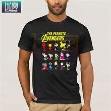 The Peanuts Avengers PEANUTS X Marvel T Shirts Summer Men's