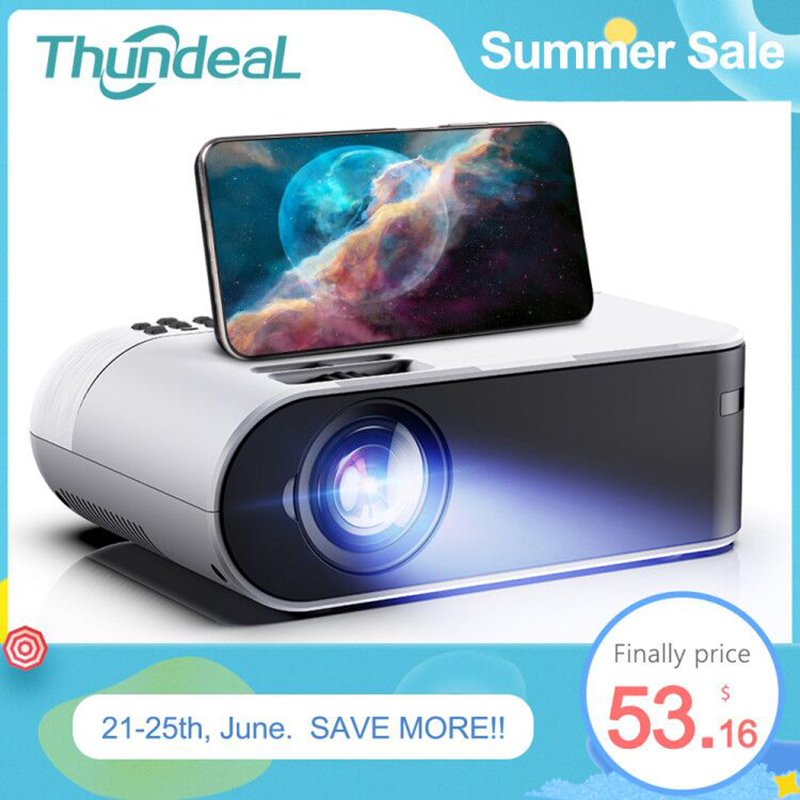 ThundeaL TD60 Mini Projector Portable WiFi Android 6.0 Home Cinema for 1080P Video Proyector 2400 Lumens Phone Smart 3D Beamer