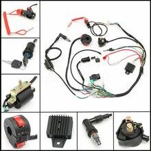 Жгут проводов 50cc 90cc 110cc 125cc, электрическая сборка, жгут проводов, соленоидная катушка CDI, квадроцикл-внедорожник ATV