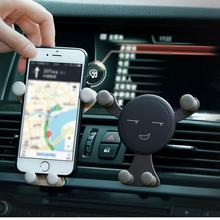 Car Installation Vent Fashion Gravity Bracket Car Holder For Phone In Car Air Vent Clip  Universal Mobile For Phone GPS universal gravity air vent mount gps stand car phone holder bracket supplies gravity car holder for phone in car air vent clip m