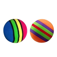 10 Pcs EVA Rainbow Balls Throwing Funny Interactive Play Chewing Rattle Scratch Toy Pet Dog Supplies