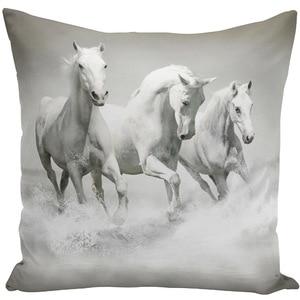 Image 2 - Throw Pillow Bts Case 45x45 Animal Print War White Horse Cushion Cover Sets for Chair Sofa Decorative Home Farmhouse Decor