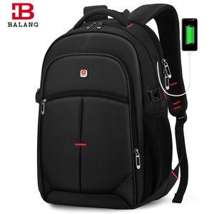 Image 1 - 2020 BALANG Laptop plecak mężczyźni kobiety Bolsa Mochila dla 14 17 Cal komputer przenośny plecak tornister plecak dla nastolatków