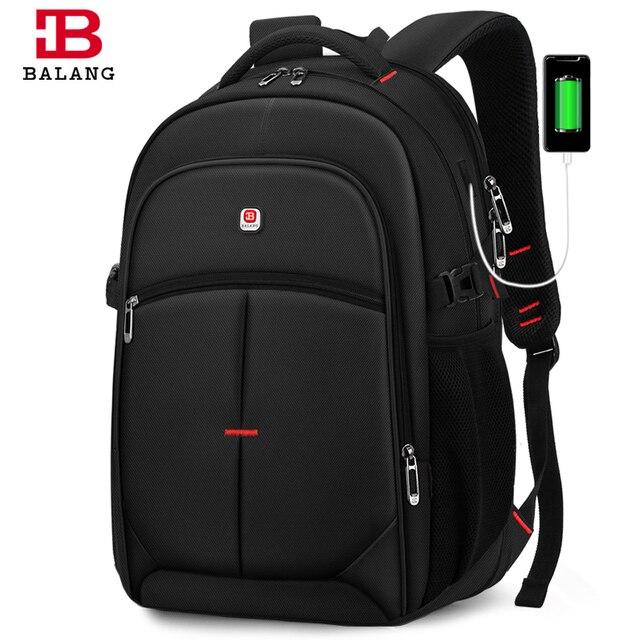 2020 BALANG Laptop plecak mężczyźni kobiety Bolsa Mochila dla 14 17 Cal komputer przenośny plecak tornister plecak dla nastolatków