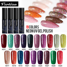 Verntion 5ml Neon Glitter Kleur UV Gel Nagellak LED Lamp Shining Hybrid Nagellak Emaille Vernis Manicure Varnish gel Nail(China)