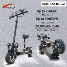 Patinete eléctrico de doble Motor para adulto, 2600W, 52V, batería de litio de 52Ah de 100km de largo alcance con asiento plegable