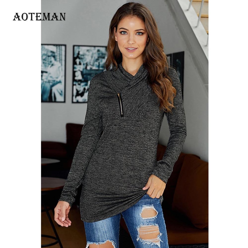Spring Autumn Hoodies Women 2020 Casual Solid Warm Hoodies Fashion Zipper Slim Pullover Sweatshirt Female Long Sleeve Women Tops