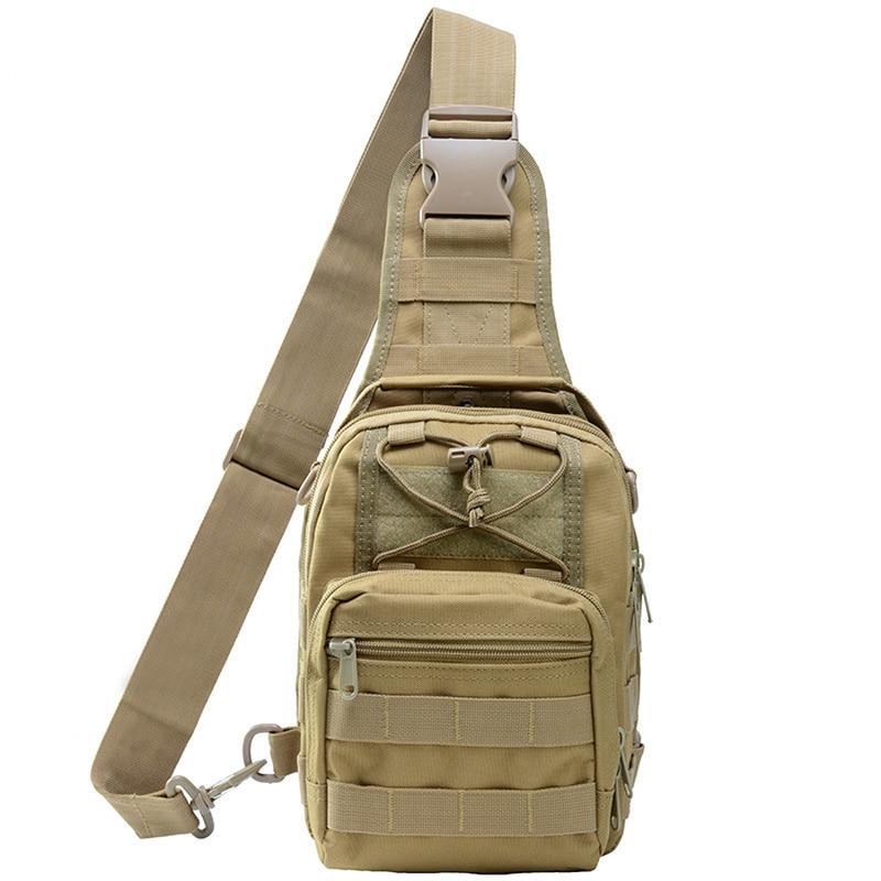 Mens shoulder bag messenger waterproof Stock Wholesale Outdoor Military Single Shoulder Messenger Tactical Chest Bag