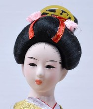 Akcesoria do dekoracji wnętrz w stylu vintage figurki geisha japońskie dekoracje do dekoracji wnętrz tanie tanio Tekstylia i tkaniny Krajobraz Japan style