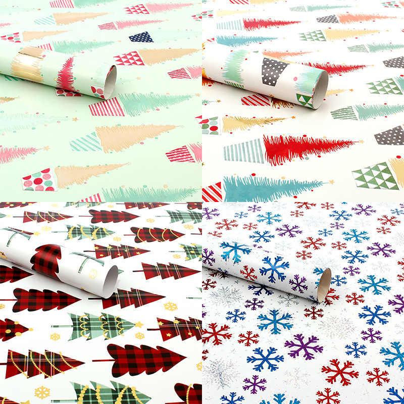 10 個のクリスマスプレゼント装飾紙の誕生日ウェディング紙クリスマススノーフレークアニメーションミニマリストスタイル 50*70''