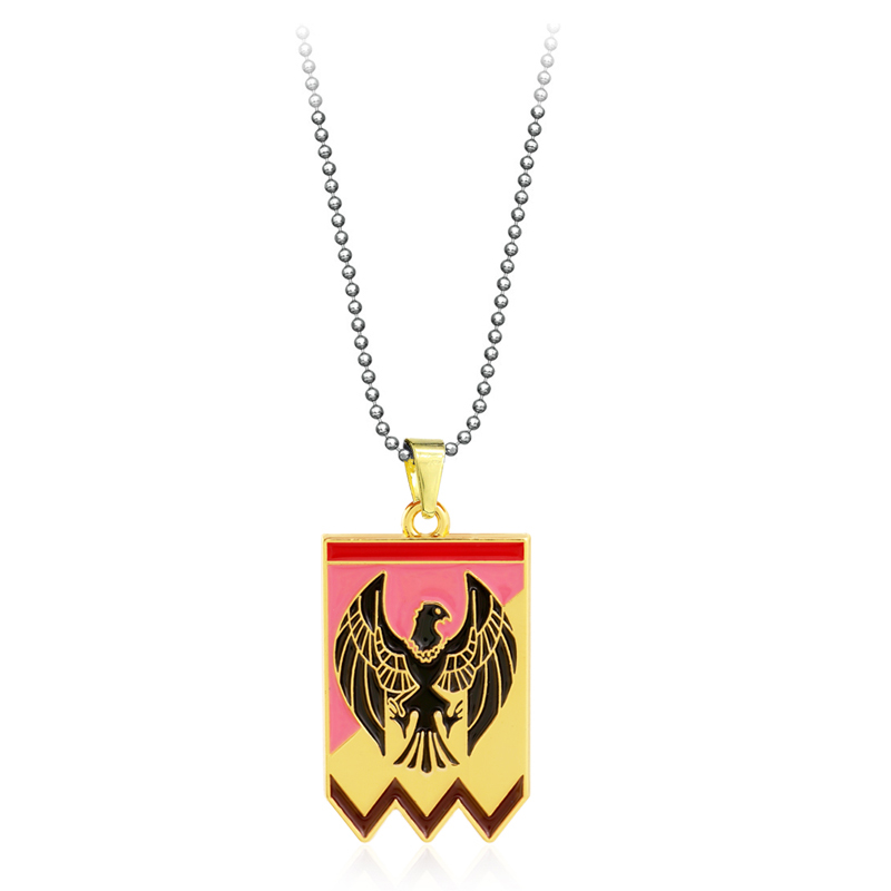 Game Fire Emblem Necklace Lion Logo Pendant Metal Chain Choker Women Necklaces Charm Gifts Jewelry collares image