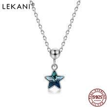 Lekani 925 стерлингового серебра кулон ожерелье для женщин с