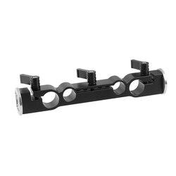 Kayulin 15mm i 19mm dwuportowy zacisk pręta z podwójną końcówką M6 ARRI Style rozeta do montażu na uchwyt na aparat rig kit