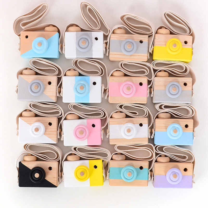 Free Shipping Cute Nordic Wooden Camera Toys Baby Children Room Hanging Ornaments Educational Toys Photo Prop Gifts Home Decor