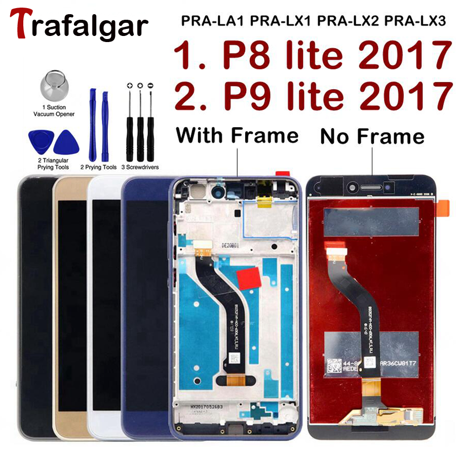 Screen For Huawei P9 Lite 2017 LCD Display Touch Screen For Huawei P8 Lite 2017 Display P9 Lite 2017 LCD Screen PRA-LA1 PRA-LX1