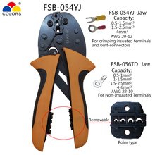 FSB-054YJ 2 In 1 Crimping Tool Pliers For Insulation Terminal 0.5-4mm2 Bare Terminal 0.5-6mm2 Electrician Pressing Crimper Plier