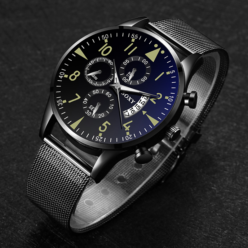 SOXY Men's Watch Top Brand Luxury Watch Men Sport Watches For Men Relojes Hombre 2019 Stainless Steel Clock Relogio Masculino