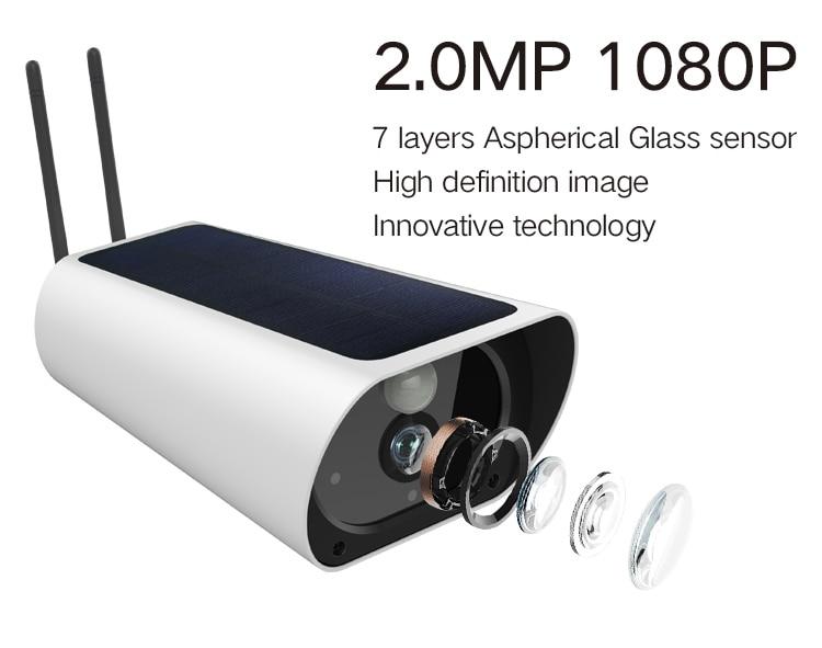 Gratis Verzending 2MP Zonne energie Camera 4G Sim kaart IP Bullet Camera Oplaadbare 4G Outdoor CCTV camera met 1080P Wifi Camera - 4