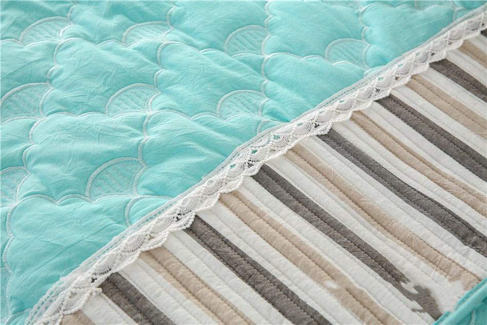 Полосатый тканевый чехол для дивана на четыре сезона Нескользящая