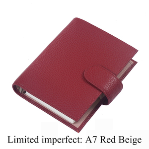 Image 3 - Limited Imperfect Genuine Leather Rings Notebook A7 Size Binder Agenda Litchi Grain Organizer Diary Journal Sketchbook Planner