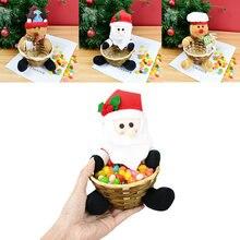 Милые рождественские конфеты корзина для хранения Счастливого