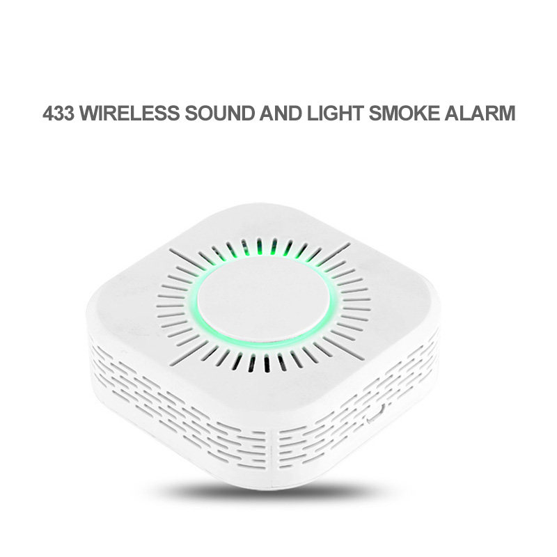 Smoke Detector Fire And Fire Smoke Detector 110dB Sound And Light Wireless Intelligent Smoke Detector Omnidirectional Detection