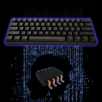 61 Keys USB Mechanical Keyboard Gaming Office Notebook Accessory PC Mini Type C Laptop Portable Wireless Backlit Bluetooth 4.0