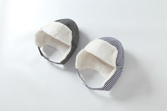 Connectyle-chapeau à rabat pour enfants   Casquette tricot doublée de Sherpa, bonnet chaud, doux, mignon, chapeau de crâne de neige pour bébés garçons et filles
