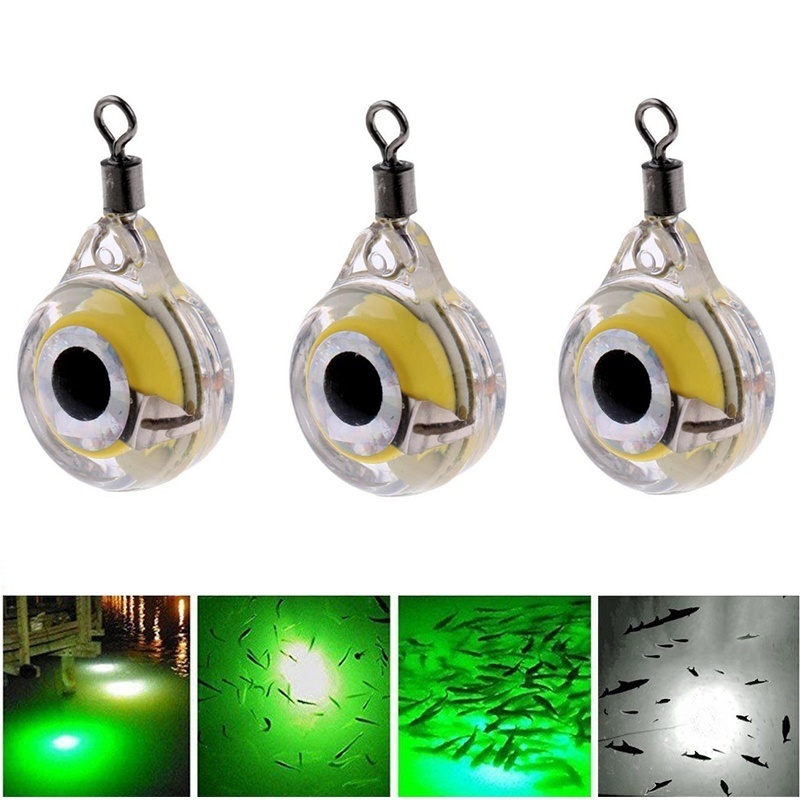 Hot LED Fishing Lure Night Light Battery Powered Glow Underwater Attracting Fish Lamp Fishing Bait MVI-ing
