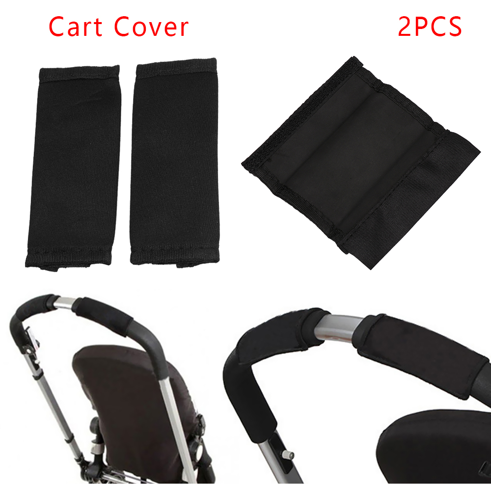 2 Pcs Strollers Armrest Covers Self-adhesive Stroller Handle Cover High-elastic