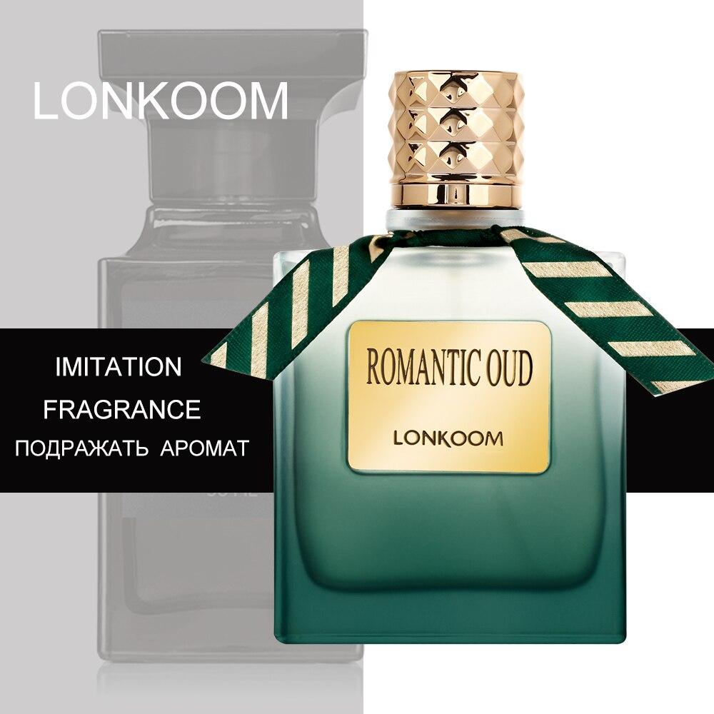 LONKOOM 100ml OUD Holz Männlichen Eau De Toilette Original Parfüm Für Männer Antitranspirantien EDT Frauen parfüm Duft Männlichen parfum